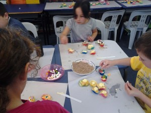 The room was so quiet when we were decorating our cupcakes - everyone was trying so hard!